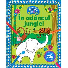 In adancul junglei - Coloreaza dupa numere + Abtibilduri, fig. 1