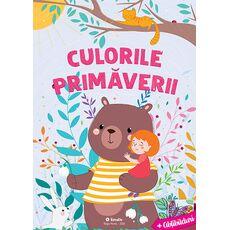 Culorile primăverii - Carte de colorat cu abțibilduri, fig. 1